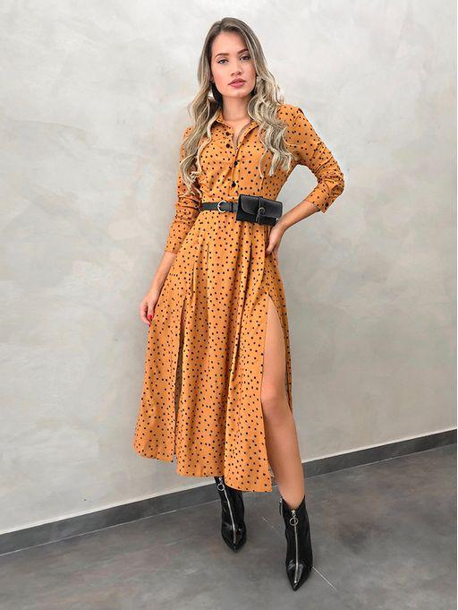 Vestido-Poa-Chemise-Pochete-Mostarda