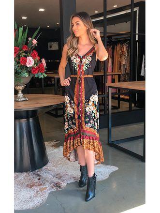 a6145a92f4 Vestido Alcinha Onça em Flor Farm
