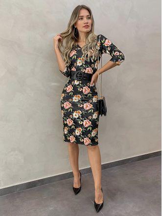 Vestido-Neoprene-Midi-Deborah-Floral