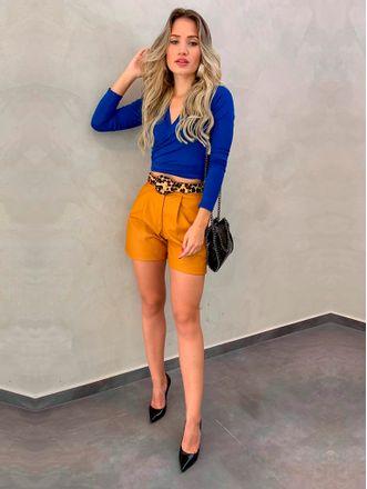 Shorts-Couro-Vip-Mostarda