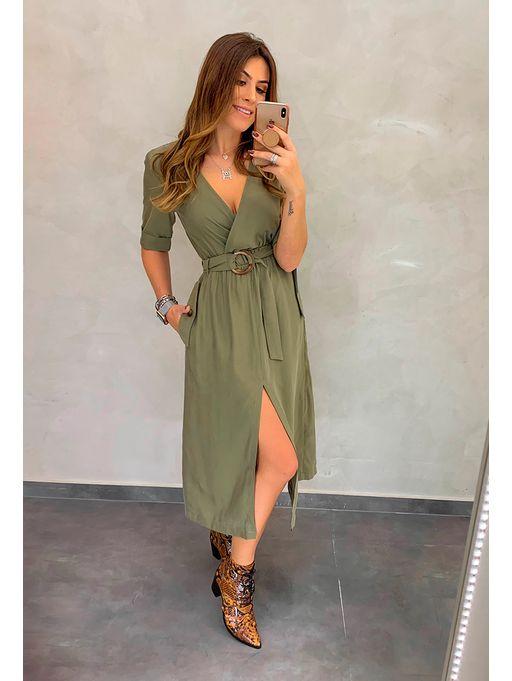 77001b9755a7 Vestido Midi Paula Verde - Estacao Store