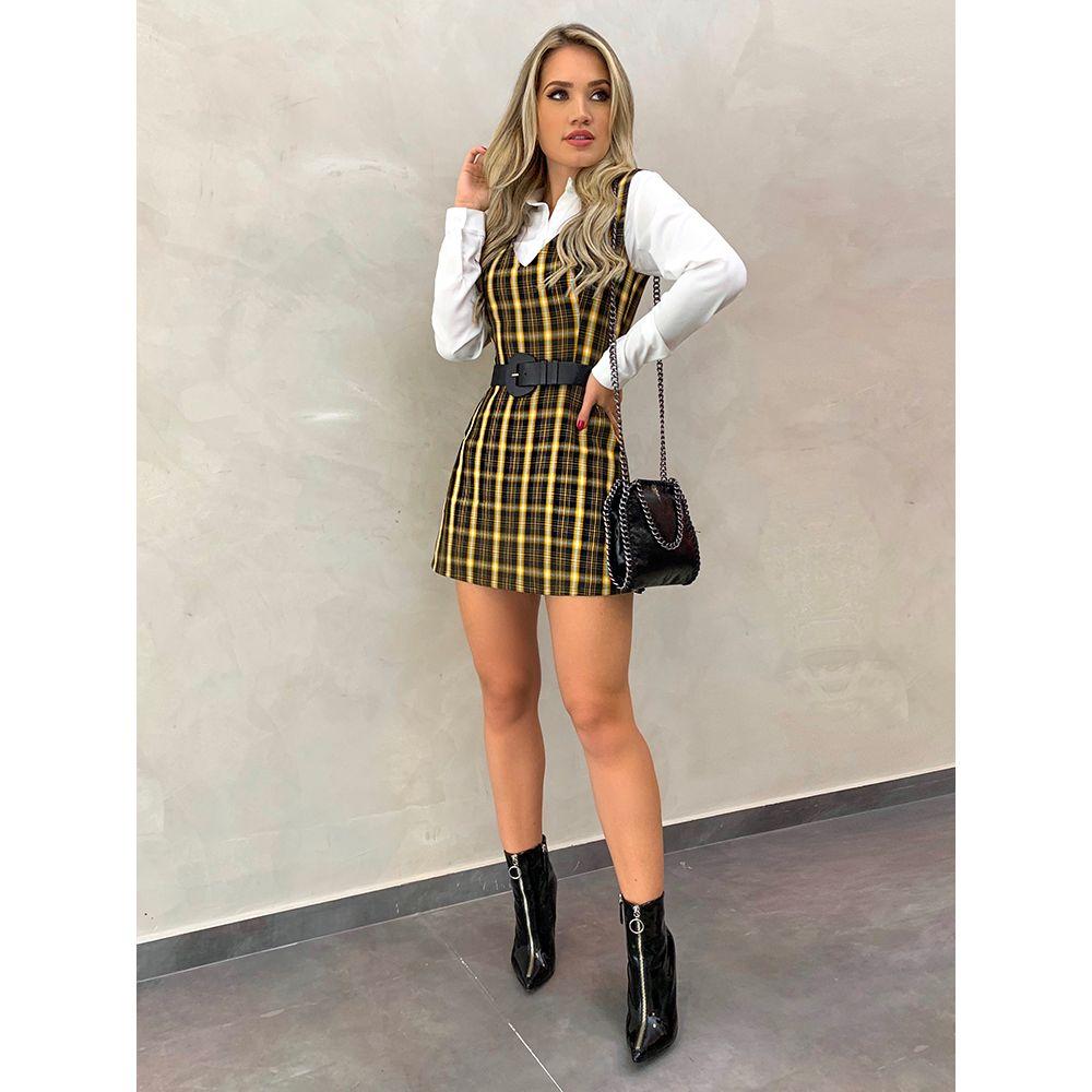 Macaquinho-Stella-Xadrez-Amarelo