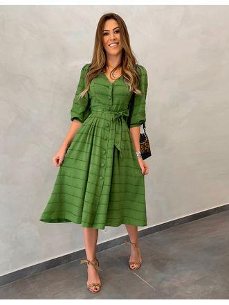 Vestido-Midi-Linho-Raquel-Verde