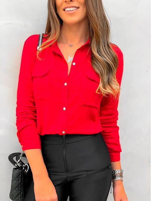 Camisa-Viscose-Slub-Vermelho