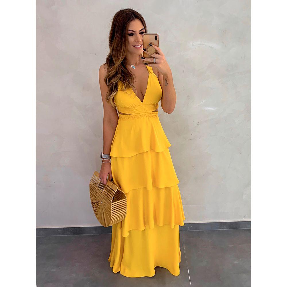 Vestido-Longo-Sueli-Amarelo