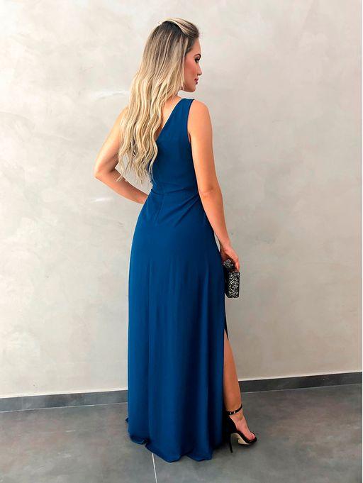 Vestido-Longo-Michele-Azul