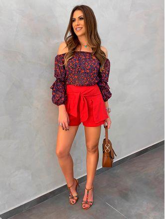 Shorts-Saia-Linho-Red
