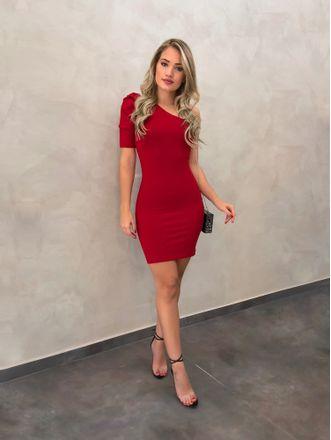 Vestido-Canelado-Mula-Manca-Camila-Vermelho