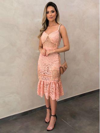 Vestido-Midi-de-Renda-Marli-Rose