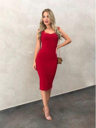 Vestido-Canelado-Ester-Vermelho