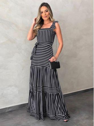 Vestido-Longo-Nadia-Listras-Off-preto