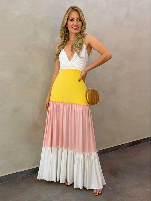 Vestido-Longo-Vitoria-Off-amarelo-rosa