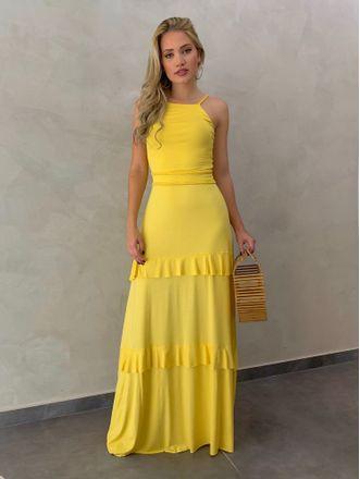 Vestido-Longo-Kamilla-Amarelo