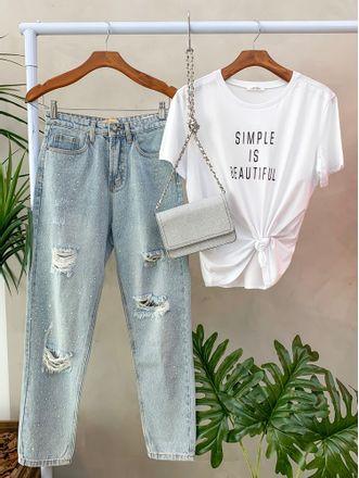 T-shirt-Simple-is-Beatiful-Off-preto