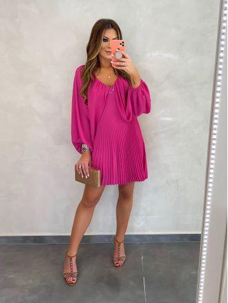 Vestido-Com-Plissado-Pink