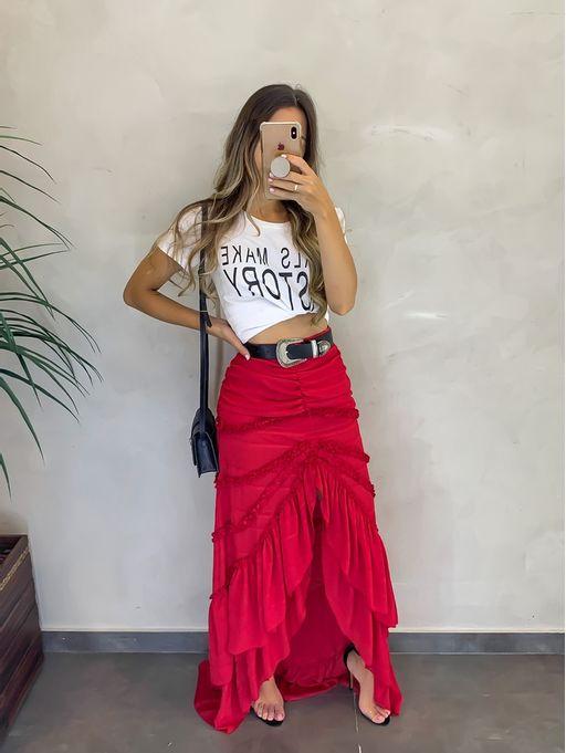 Saia-de-Crepe-Frufru-Vermelho