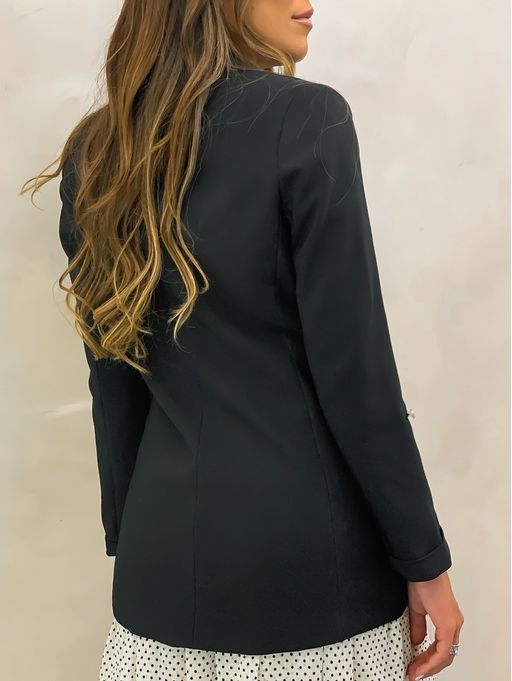 Blazer-Long-Line-Black