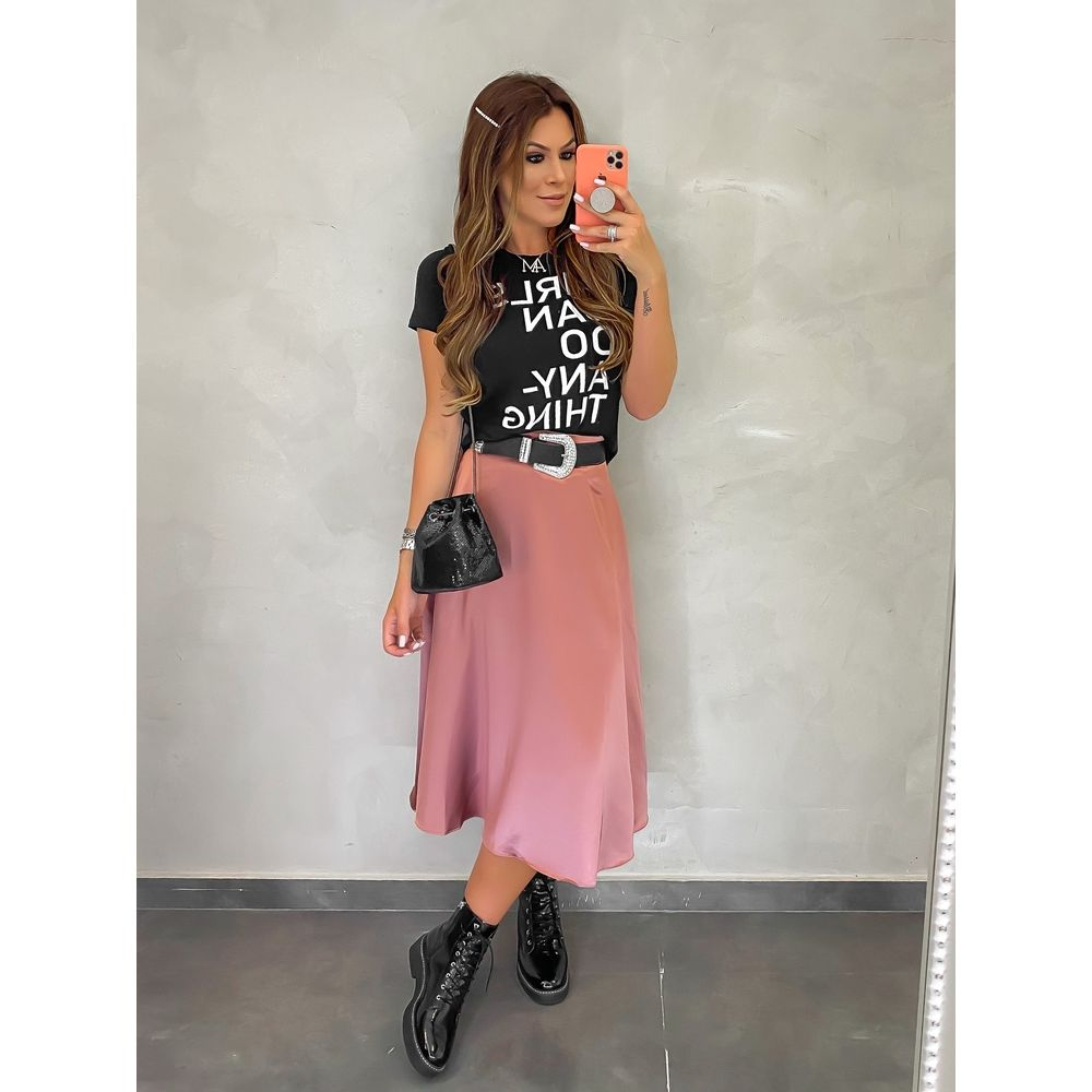 T-shirt-Girls-Preto