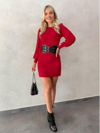 Vestido-Midi-Leila-Vermelho