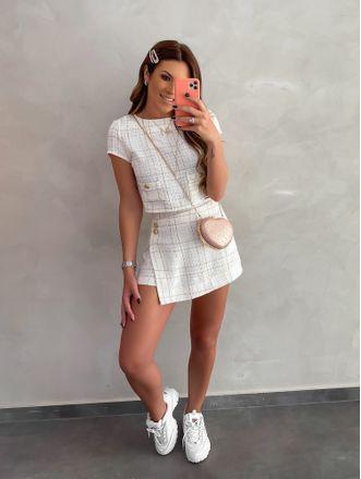 Shorts-Saia-Tweed-Off-White