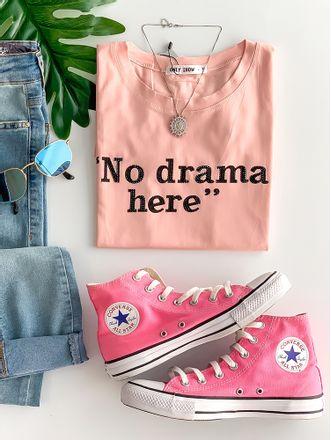 T-shirt-no-Drama-Rose
