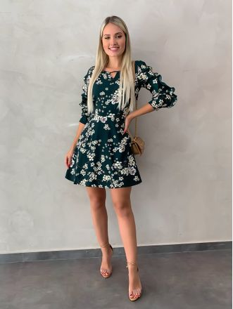 Vestido-Floral-Monique-Verde