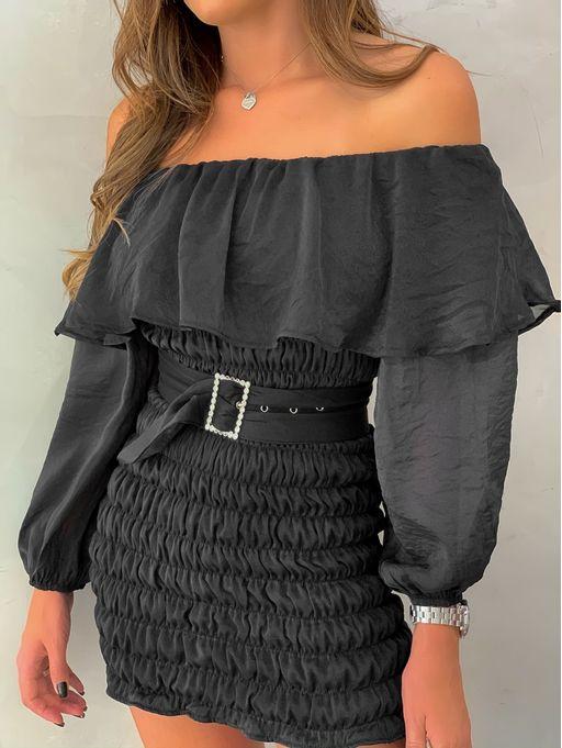 Vestido-Organza-Lastex-Livia