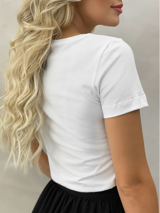 T-shirt-Wild-Branca