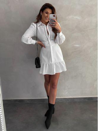 Vestido-Chemise-Prega-Com-Renda