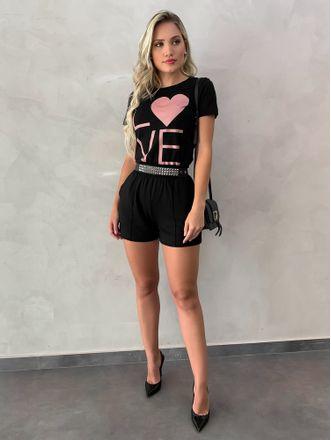 T-shirt-Amor-Preta