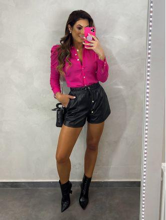 Shorts-Estela-Couro-Preto