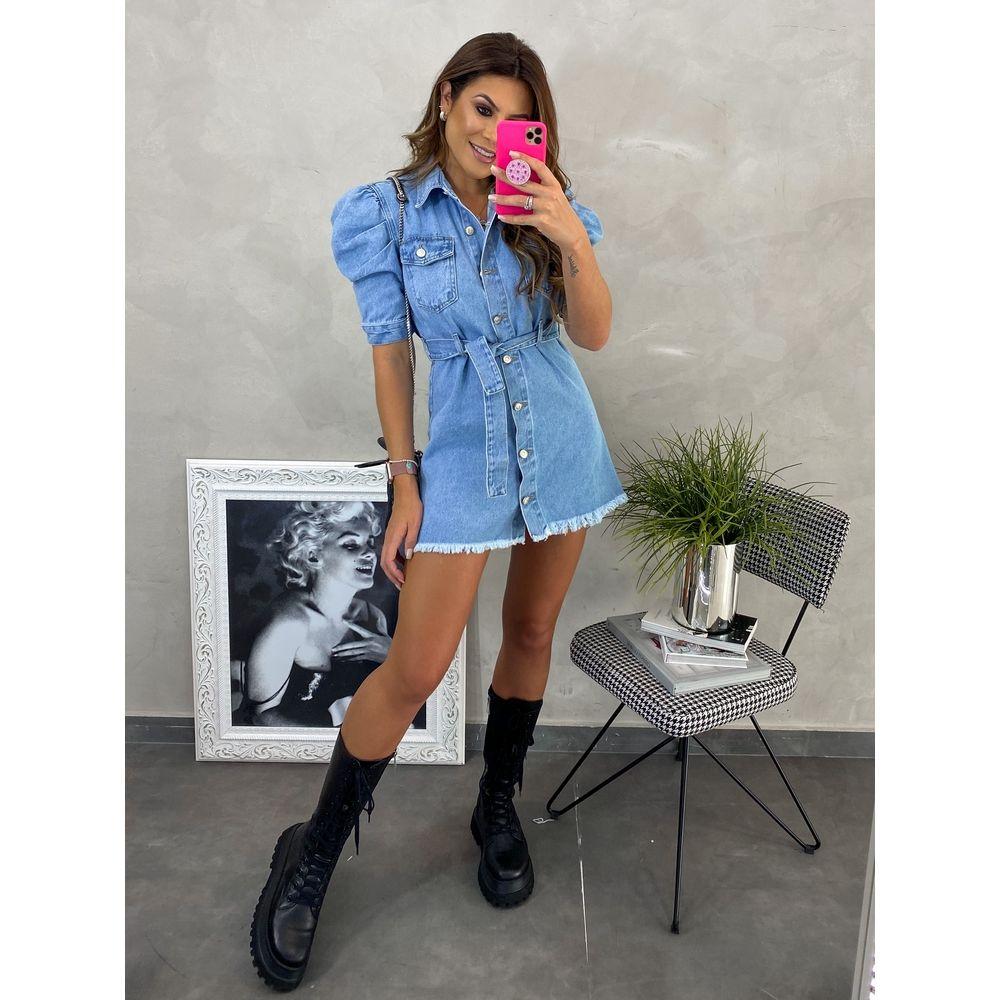 Vestido-Manga-Bufante-Com-Cinto-Jeans