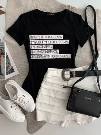 T-shirt-Porcentagem-Preta
