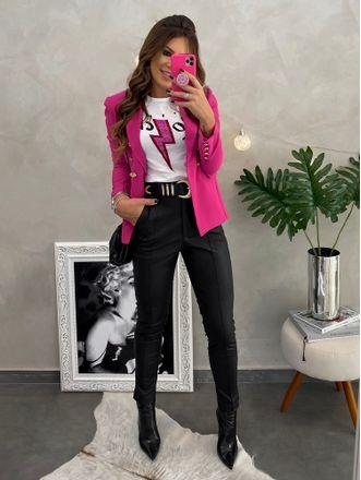 Blazer-Balmain-Pink