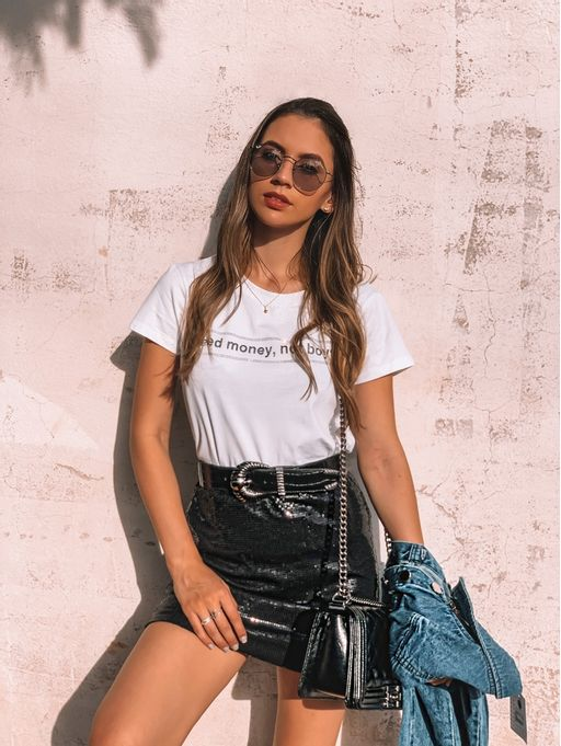 T-shirt-i-Need-Money-Branco
