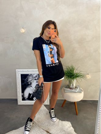 T-shirt-Friends-Preta