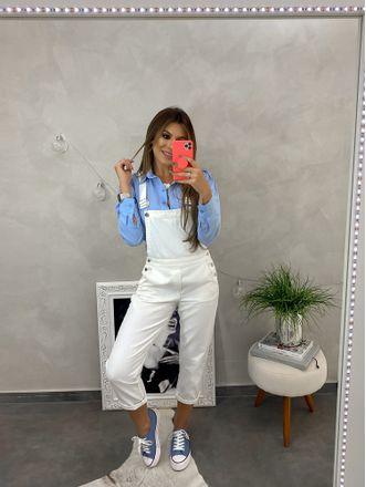 Camisa-Tricoline-Angela-Azul