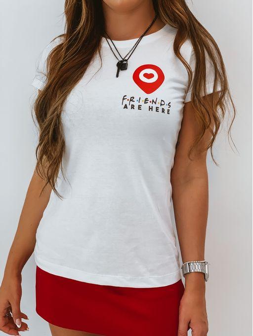 T-shirt-Map-Friends-Branca