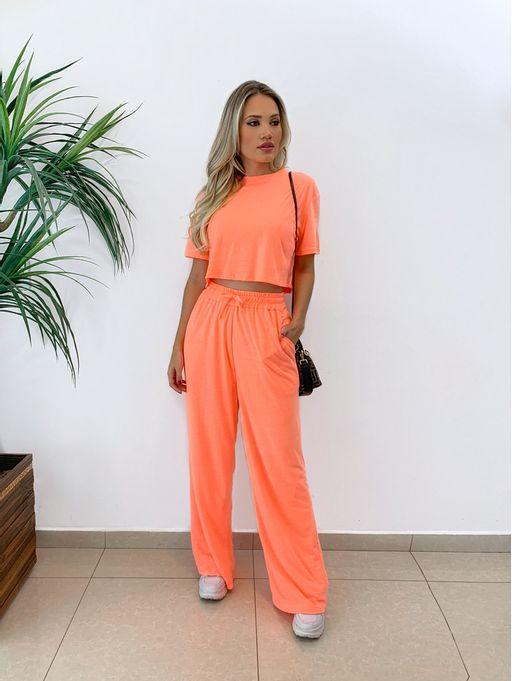 Calca-Pantalona-Flare-Laranja-Neon-Havai