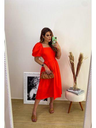 Vestido-Midi-Coral-Pamela