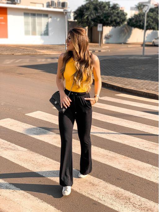 Calca-Flare-Monique-Black