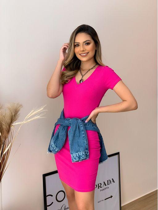 Vestido-Gola-V-Basic-Allure-Chiclete