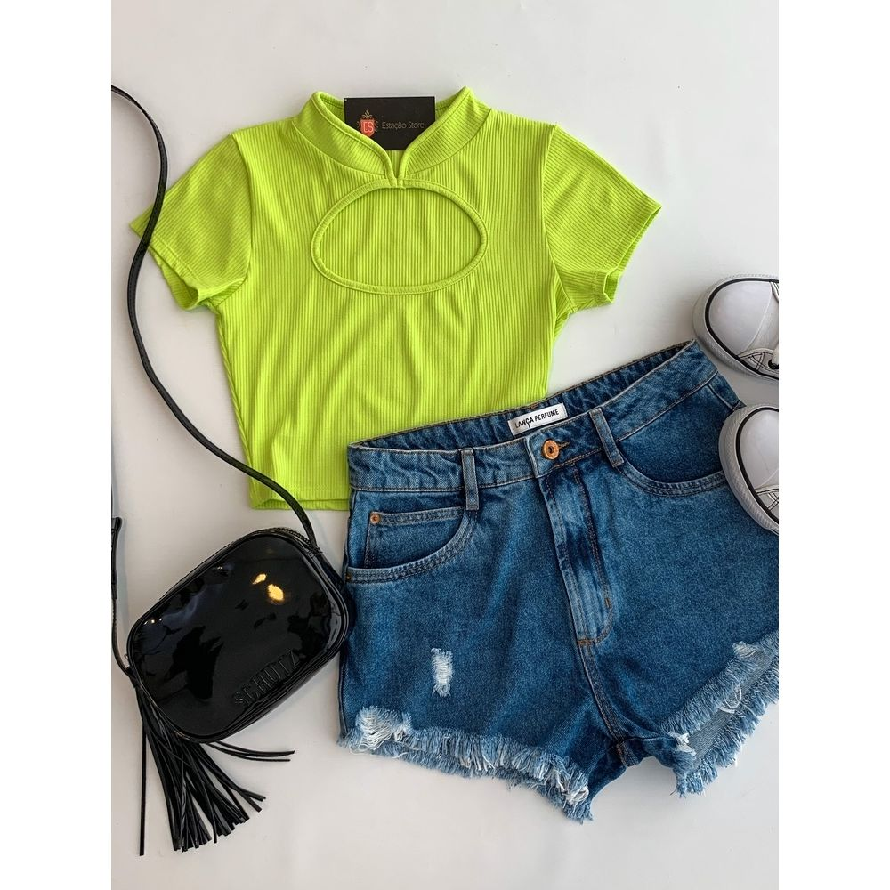 Shorts-Grandfather-High-Jeans-Escuro