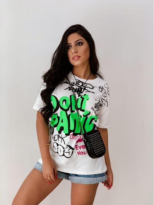 T-Shirt-Dont-Panic-Off-White