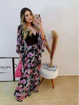 Kimono-Chiffon-Floral