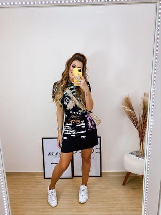 Vestido-Moletom-Neon-Preto