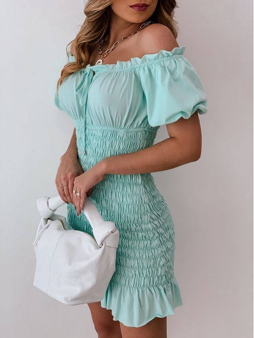 Vestido-Curto-Lastex-Ombro-A-Ombro-Alice-Verde
