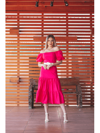 Vestido-Karen-Midi-Manga-Curta-Tricoline-Pink