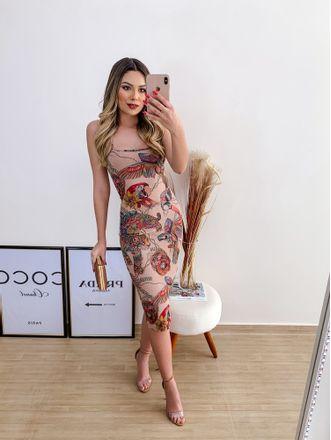 Vestido-Midi-Estampado-Animalia-Colcci