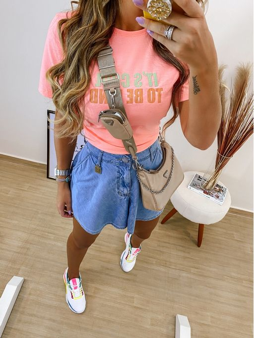 T-Shirt-Its-Cool-Coral